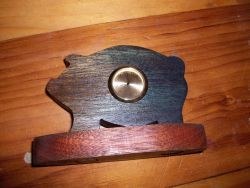 Fine Crafts - Wooden Pig Miniature Desk Clock