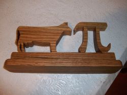 Fine Crafts - Wooden Cow Pi Desk Sign And Display