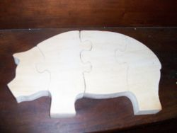 Fine Crafts - Pig Wooden Stand Up Puzzle