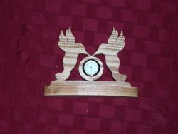 Fine Crafts - Wooden Humming Birds Mini Desk Clock