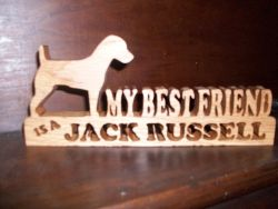 Fine Crafts - Wooden Jack Russell Sign