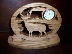Fine Crafts - Deer Wooden Mini Desk Clock