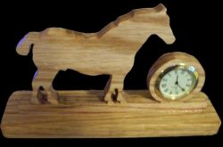 Fine Crafts - Wooden Horse Miniature Desk Clock