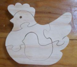 Fine Crafts - Wooden Chicken Jigsaw Puzzle