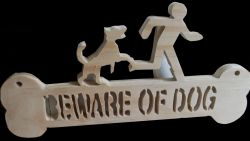 Fine Crafts - Beware Of Dog Wall Hanging 1