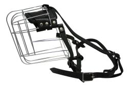 """Angel Pet Supplies - 13 Miami Wire Cage & Leather Muzzle - Black - 17.66"""" circumference, 5.25"""" length"""