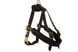 Angel Pet Supplies - Aspen Leather Harness - Brown - Medium