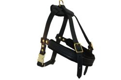 Angel Pet Supplies - Aspen Leather Harness - Black - Small