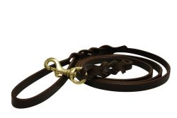 """Angel Pet Supplies - Braided Leather Leash - Brown - 6' X1/2"""""""