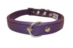 "Angel Pet Supplies - Alpine Leather Padded Dog Collar - Orchid Purple - 18"" X 3/4"""