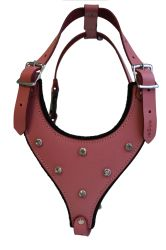 Angel Pet Supplies - Malibu Bling Leather Rhinestone Bling Dog Harness - Bubblegum Pink - Medium
