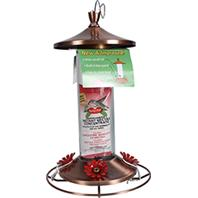 Woodstream Hummingbird - Birdscapes Brushed Metal Hummingbird Feeder - 12 oz