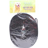 Coastal Pet Products - Train Right! Cotton Web Training Leash - Black - 30 Foot