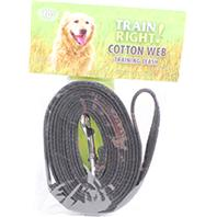 Coastal Pet Products - Train Right! Cotton Web Training Leash - Black - 10 Foot