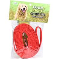 Coastal Pet Products - Train Right! Cotton Web Training Leash - Red - 10 Foot