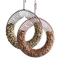 Songbird Essentials - Songbird Essentials Whole Peanut Wreath Feeder - Red - 13 Diameter