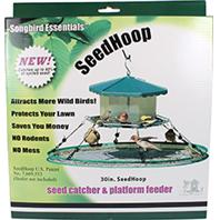 Songbird Essentials - Seed Hoop Seed Catcher & Platform Feeder - Green - 30 Inch