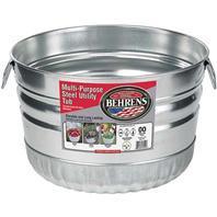 Behrens Manufacturing - Galvanized Steel Utility Basket - Steel - 1 Bushel