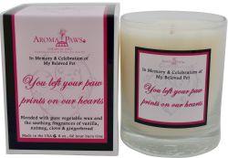 Aroma Paws - Sayings Candles - Heart/ Burgundy - 8 oz