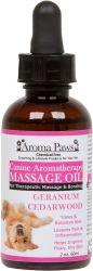 Aroma Paws - Massage Oil - Geranium Cedarwood - 2 oz