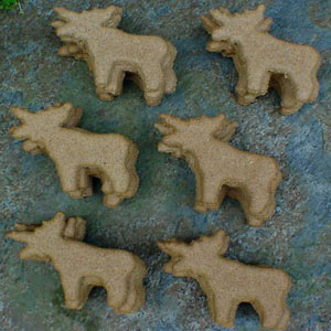 North Woods Animal Treats - Parmesan Moose Display Crate Refill - 36 Cookies