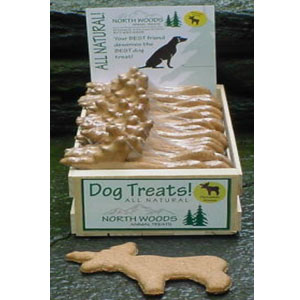 North Woods Animal Treats - Parmesan Moose Display Crate - 24 Cookies