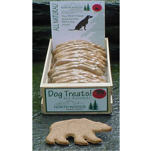 North Woods Animal Treats - Peanut Butter Bear Display Crate - 24 Cookies
