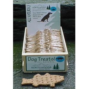 North Woods Animal Treats - Trail Mix Trout Display Crate - 24 Cookies