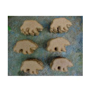 North Woods Animal Treats - Peanut Butter Bear Display Crate Refill - 36 Cookies