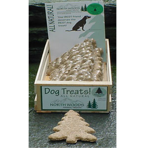 North Woods Animal Treats - Peppermint Pine Display Crate - 24 Cookies