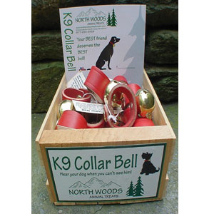 North Woods Animal Treats - K9 Collar Bell Display Crate - 15 Bells