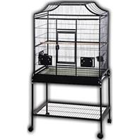 A&E Cage Company - Elegant Style Flight Cage With Stand - platinum - 32 X 21 X 61 Inch