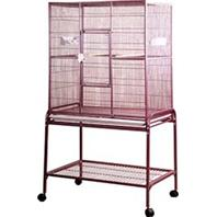 A&E Cage Company - Flight Bird Cage With Stand - Burgundy - 32X21X63 Inch