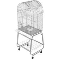 A&E Cage Company - Open Dome Top Cage with Removable Stand - White - 22 x 17 x 58 Inch
