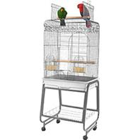 A&E Cage Company - Open Flat Top Cage with Removable Stand - White - 22 x 18 x 61 Inch
