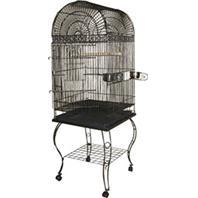 A&E Cage Company - Economy Dome Top Bird Cage -  600A BLACK - 20 x 20 x 58 Inch