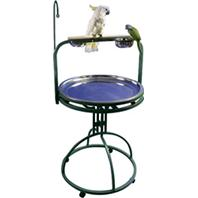 A&E Cage Company - Play Stand with Toy Hook for Birds - Black - 28 Inch