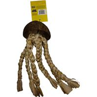 A&E Cage Company - Java Wood Jelly Fish Bird Toy - Assorted - 15 X 4 Inch