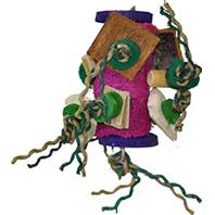 A&E Cage Company - Java Wood Fun Spongy Bird Toy - Assorted - 6 X 7 Inch
