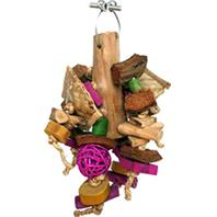A&E Cage Company - Java Wood Chunky Monster Bird Toy - Assorted - 8 x 12 Inch