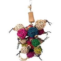 A&E Cage Company - Java Wood Ball Thing Bird Toy - Assorted - 10 X 14 Inch