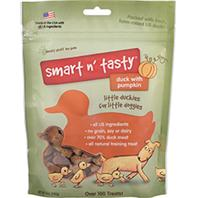 Emerald Pet Products - Smart N Tasty Little Duckies Dog Treat - Duck & Pumpkin - 5 oz