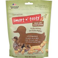 Emerald Pet Products - Smart N Tasty Little Duckies Dog Treat - Sweet Potato/Duck - 5 oz