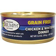 Triumph Pet - Grain Free Chicken & Whtfish Can Cat Food - 5.5 oz