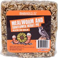 Unipet USA - Mealworm To Go Mealworm And Sunflower Heart Pie - 7 oz