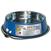 Farm Innovators - Pet - Heated Stainless Pet Bowl - Blue - 5.5 Quart