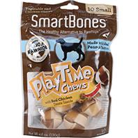 Petmatrix - Smartbones Playtime Chews With Real Chicken Treats - Peanut Butter - Small/10 Pack