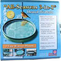 Farm Innovators - All Seasons 3-In-1 Heated Birdbath - Green - 75 Watt