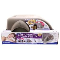 Omega Paw - Self-Cleaning Litter Box - Brown/Taupe - Large