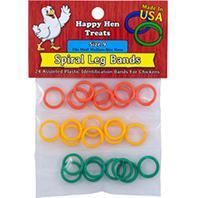 Durvet - Happy Hen Spiral Leg Bands - Assorted - Size 11/24 Pack